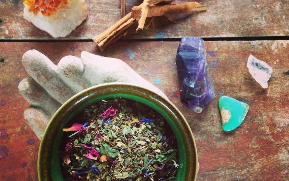 making it sacred tea